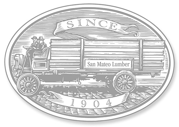 Wood wagon for San Mateo Lumber Company